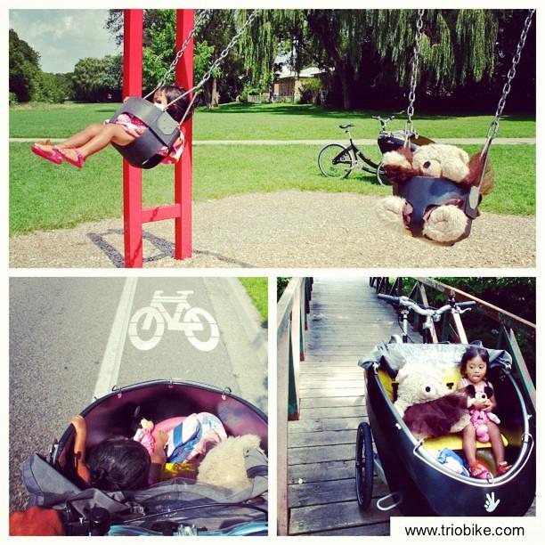 @triobike Teddybear Picnic. #biketo #cargobike