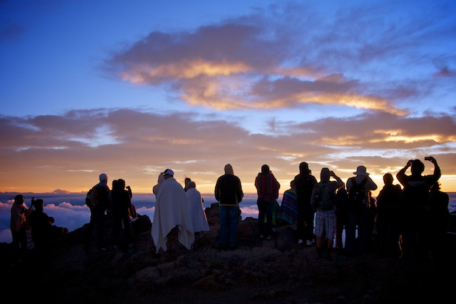 Sunrise on Maui at Haleakala