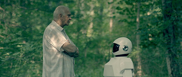 Frank Langella stares down an unwanted companion in ROBOT & FRANK.