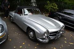 race car(1.0), automobile(1.0), automotive exterior(1.0), vehicle(1.0), performance car(1.0), automotive design(1.0), mercedes-benz(1.0), mercedes-benz 190sl(1.0), mercedes-benz 300sl(1.0), antique car(1.0), classic car(1.0), vintage car(1.0), land vehicle(1.0), luxury vehicle(1.0), convertible(1.0), sports car(1.0),