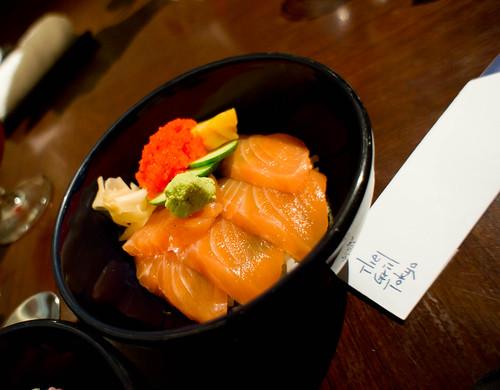 Japanese's Rice bowl of fresh Salmon