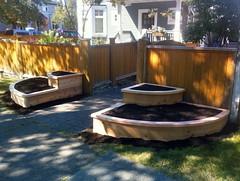 Quarter-circle  planters