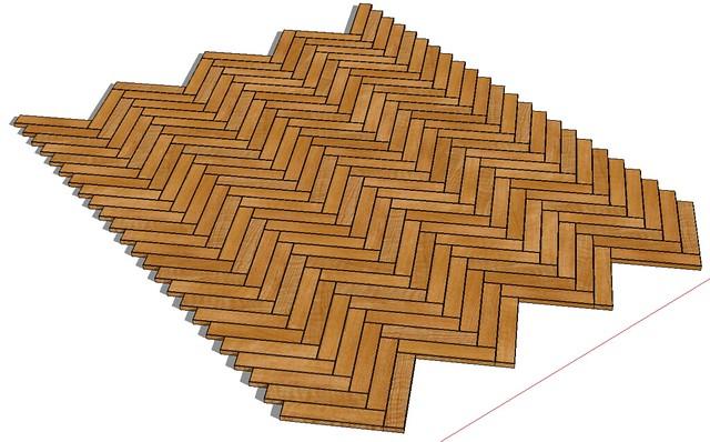 Tutorial Herringbone Patterned Wood Floor Sketchucation 1