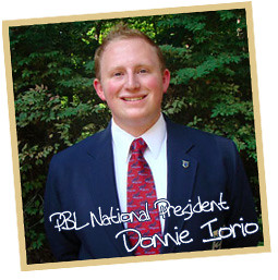 Donnie Iorio, PBL National President
