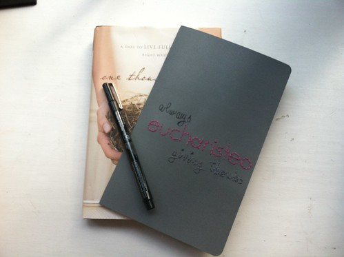 Embroidered moleskin blessings journal