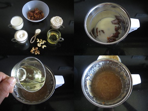 Eggless Dates Cake-step1