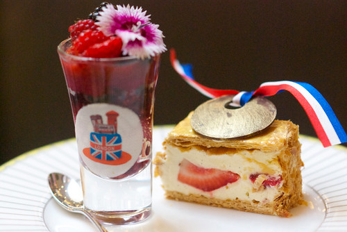 Tea at the Corinthia changes regularly to reflect current events. This tea had Olympic themes throughout, including the 'gold' medal.