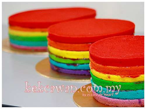 Rainbow Cake for Fondant Wedding Cake