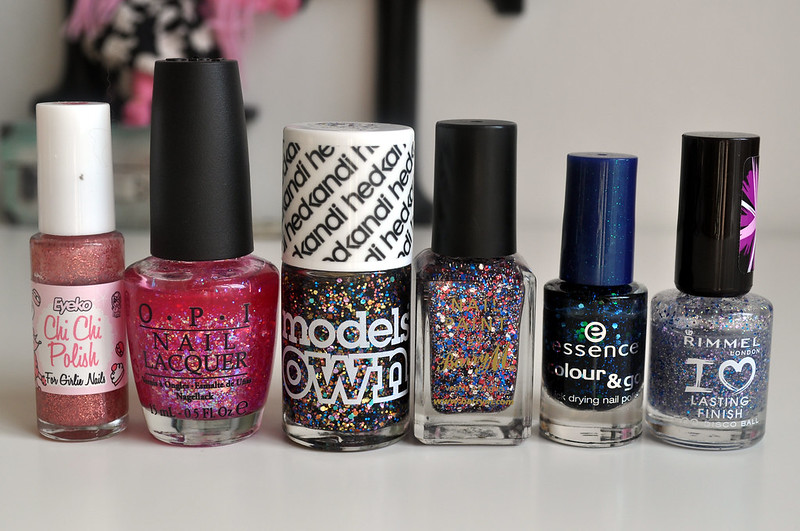 top 5 glitter nail polishes eyeko opi models own barry m essence rimmel