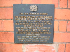 Photo of Old Grammar School, Market Harborough and Robert Smyth slate plaque