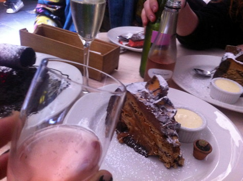 Cake & champagne w/ Bousy, Sara & Ben on Degraves (note baby cactus)