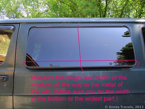 How to measure a flip-out van window for bug screens