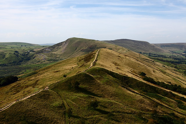 landscape photo of the ridge to mam tor from back tor in the peak district