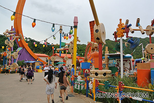 Entering Toy Story Land