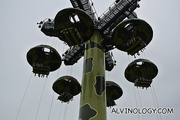 Toy Soldier Parachute Drop where you can tossed up and down the sky