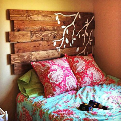 Cabecero tablas de madera