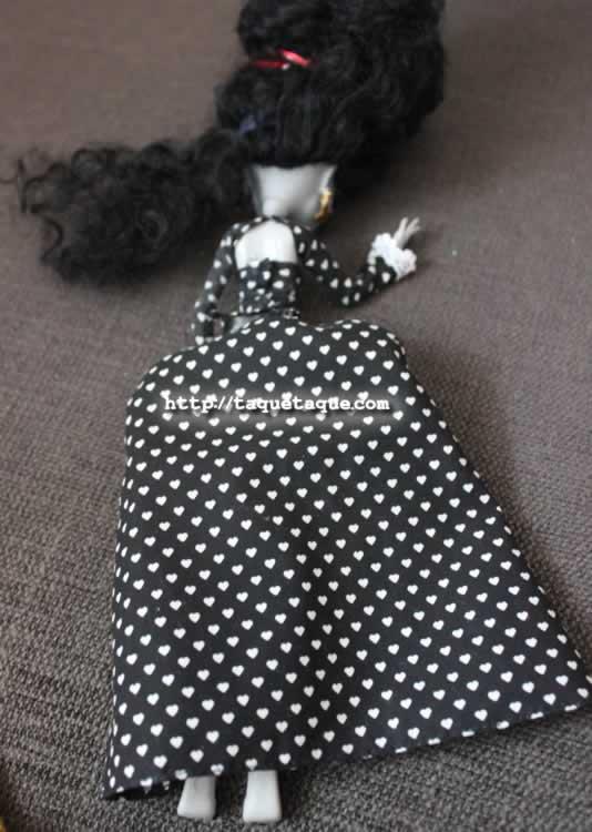 Vista posterior del vestido