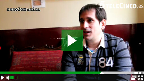Aparición en el programa de Telecinco Nosolomusica hablando de los blogs de viajes
