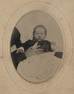 Baby with Hidden Mother's Hand - Tintype
