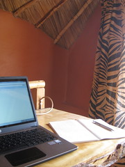 Workshifting from the loft in the cottage
