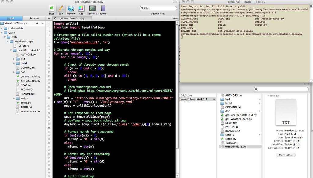 Web scraping con Python, imagen de Gavin Wray https://flic.kr/p/dd4mMS