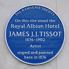 Photo of James J. J. Tissot blue plaque