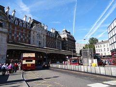 Victoria Station Exterior with the sun shinning