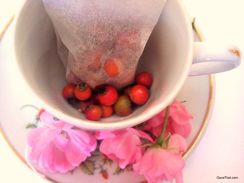 Making rose hip tea