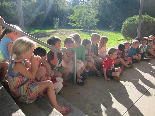 Kindergarteners waiting