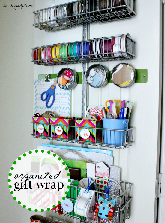 hisugarplum gift wrap station