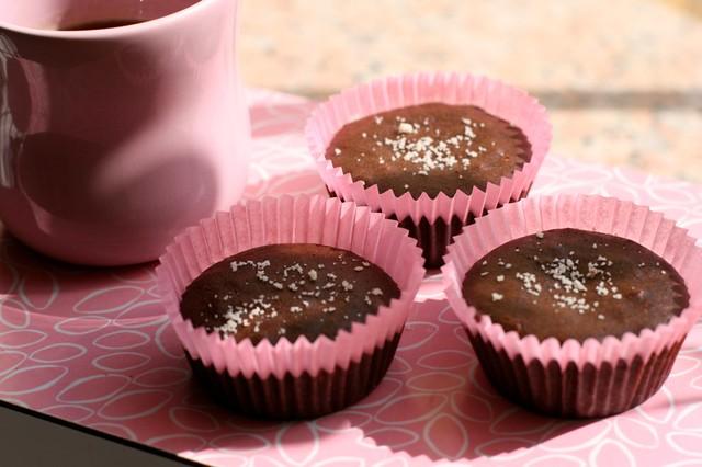 Varme lavkarbosjokolademuffins