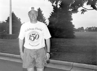 President Bill Clinton wearing a Florida Sesquicentennial T-shirt: Washington, D.C.