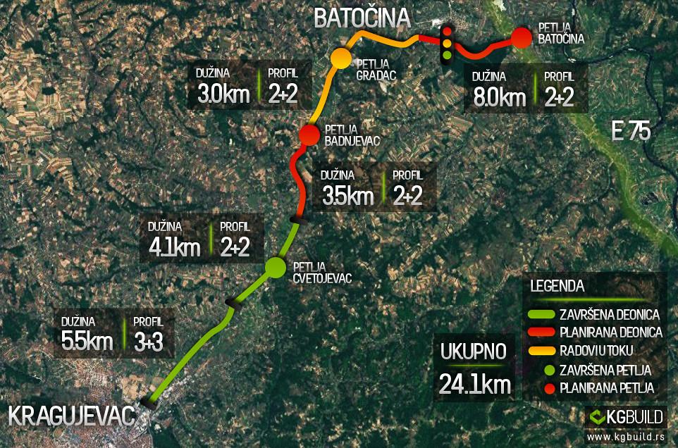 batocina mapa SRB] Serbia | road infrastructure • Auto putevi / Aуто путеви  batocina mapa