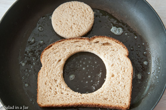 hole and toast in skillet