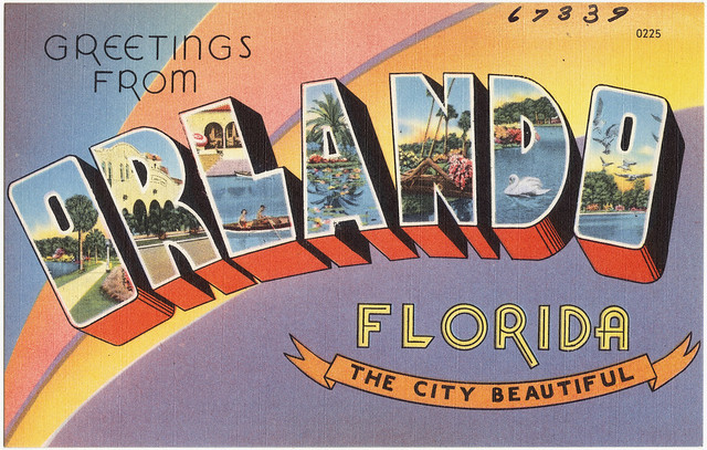 Vintage postcard from Orlando, Florida - Flickr Boston Public Library