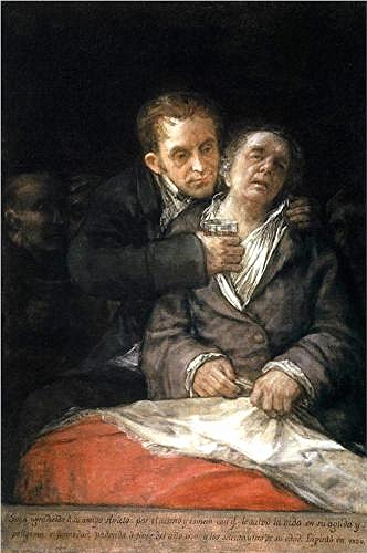 Goya, Francisco (1746-1828) - 1820 Goya Attended by Doctor Arrieta (Minneapolis Institute of Art, USA)