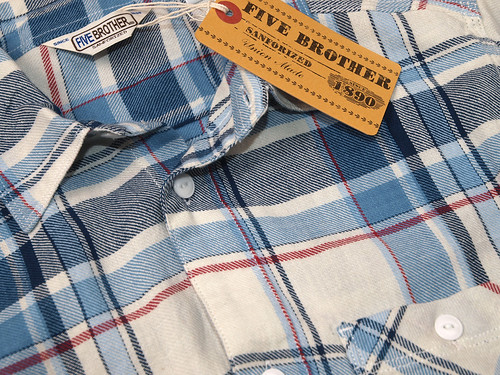 Five Brother / Light Flannel Work Shirt