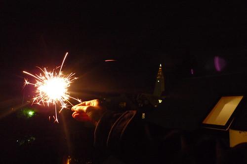 smuggled firework, reykjavik balcony