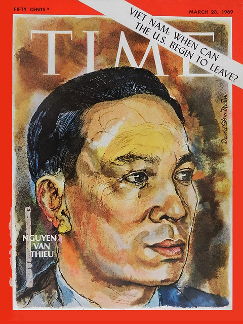 TIME MAGAZINE MARCH 28, 1969 NGUYEN VAN THIEU, VIETNAM - WHEN CAN THE U.S. LEAVE
