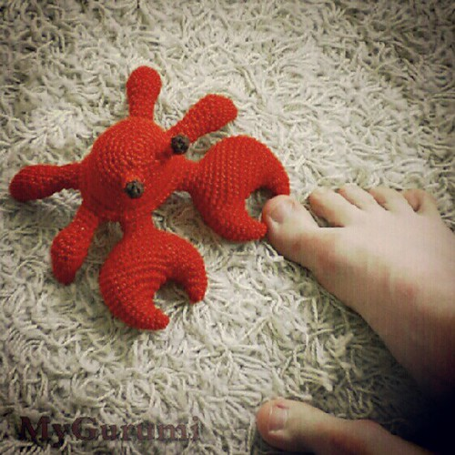 Day 1: where I stood #FMSphotoaday #amigurumi #crochet #ouch #photoaday #instadaily