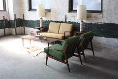 Intoxicating Danish Mid Century Modern Ib Kofod Larsen Settee/ Love Seat for Selig (Denmark, 1950's)
