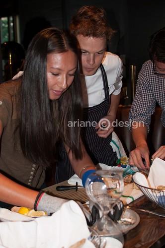 Contestant Victoria Chemko with Sous-Chef Garett
