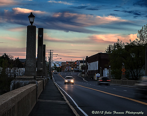 bridge sunset sky clouds colorful traffic dusk burgerking dunkindonuts cohoesny waterfordny mygearandme ringexcellence shelterenterprises