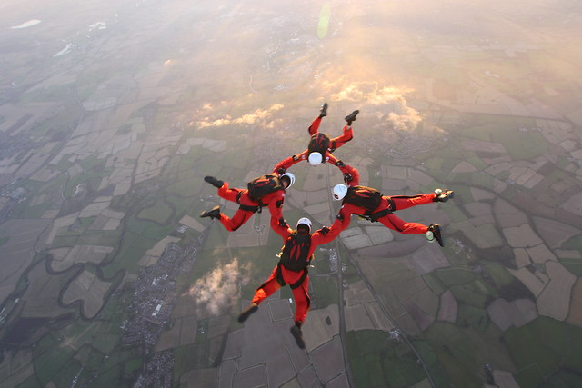 The CRW guys in freefall