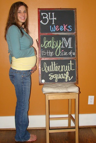 34 weeks = butternut squash