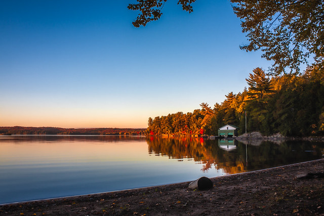 Autumn Evening at the Lake