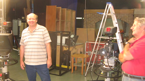 Producer and host Larry Conklin (Left) and TV show director Ed Mueller ( Right) at the Comcast cable television studio in Elmhurst Illinois.  Tuesday, September 18th, 2012. by Eddie from Chicago