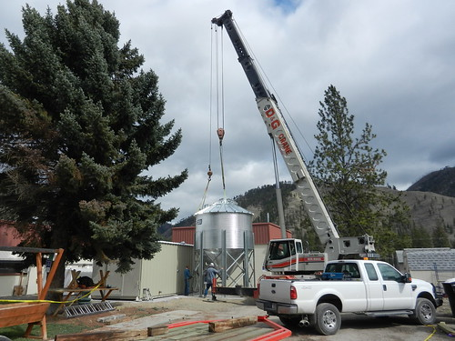 Work in progress on the Mineral Hospital Biomass Generator in Superior, Montana. Photo provided by Mineral Community Hospital