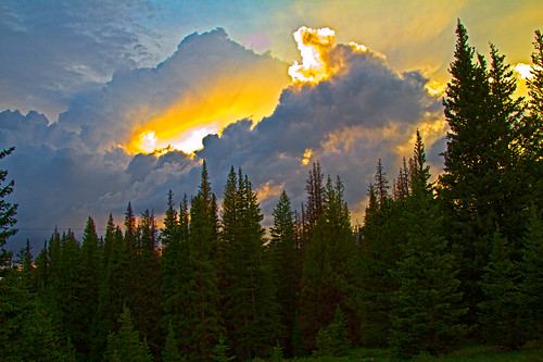 mountains sunsets wyoming medicinebow