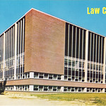 Southeast side of Law College, the University of Iowa, 1960s?